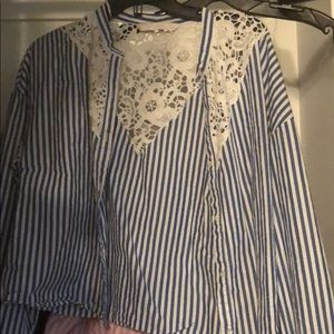 Zara - TRF -blue and white size Small - wore Once
